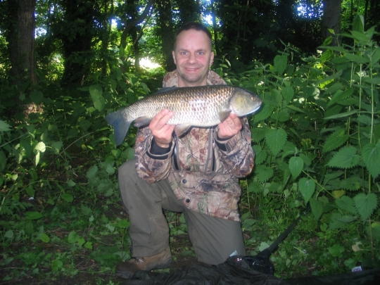 me with a nice 5LB 4oz chub my first fish of the 2013 season
